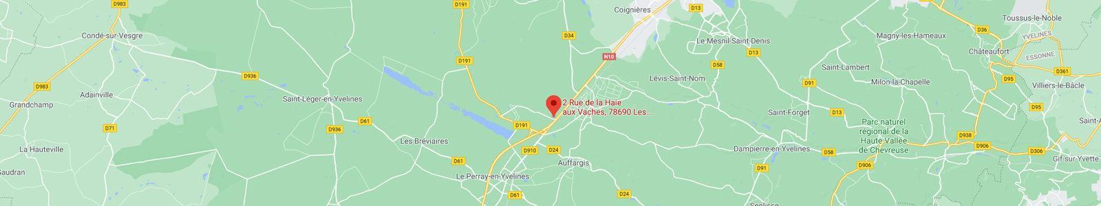 Carte Google Map, emplacement de Abedix
